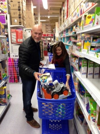 Jay and Leah Buhner turn up every year for the Toys for Kids shopping spree.