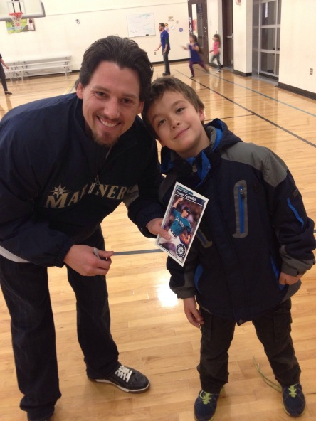 Danny Farquhar with die-hard Mariners fan Jason.