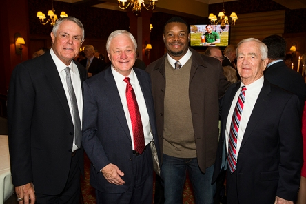 Chuck with Lou Piniella, Ken Griffey Jr. and John Ellis.