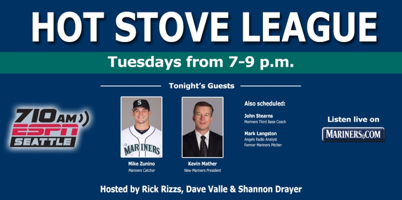 Listen live from 7-9 p.m. on 710 ESPN Seattle or Mariners.com
