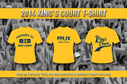Have your say on the 2014 King's Court T-Shirt.