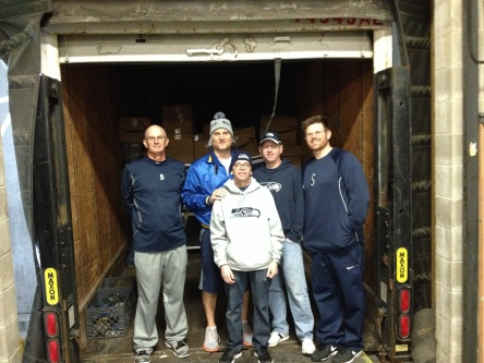 The hardest working clubhouse staff in baseball: Billy Sepich, Ryan Stiles, Pete Fortune, Jeff Bopp and Chris DeWitt.