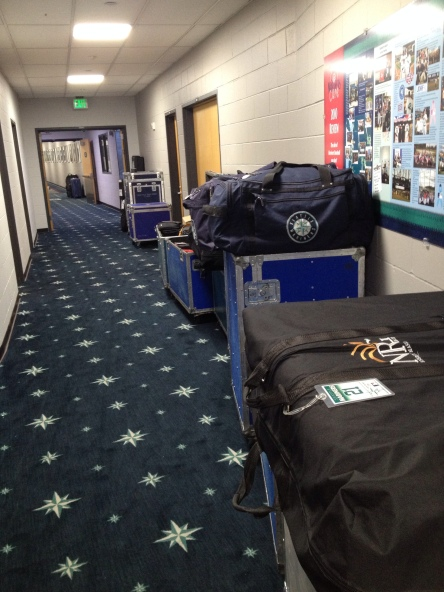 Equipment ready to get loaded for the trip South to Spring Training.