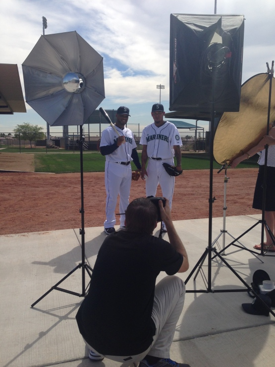 Ben Van Houten focuses his lens on two of the Mariners stars.