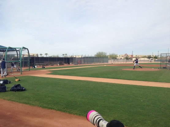Charlie Furbush threw live BP during workouts today.