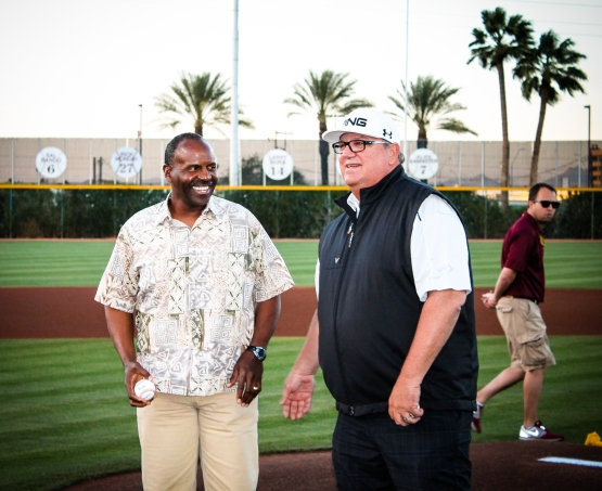 Alvin Davis was honored this past weekend for his contributions to the ASU Baseball program.