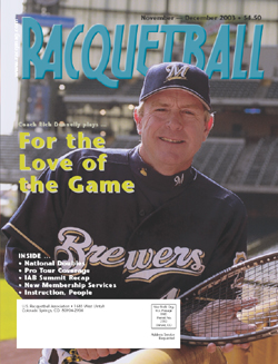 Rich Donnelly was on the cover of Racquetball Magazine.