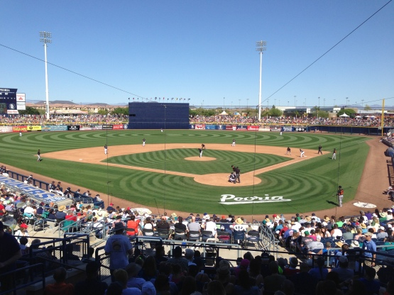 Seattle took on the Giants this afternoon at Peoria Stadium.