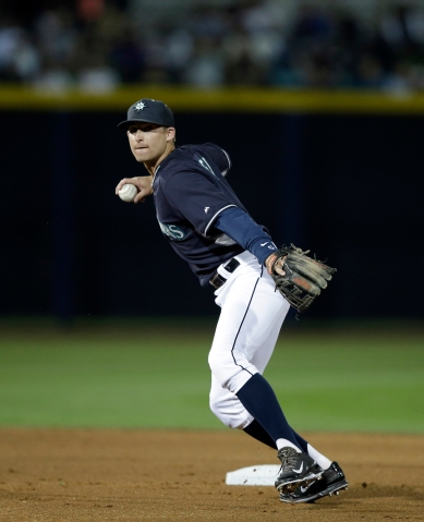 Brad Miller got his first start of the spring at second base tonight.