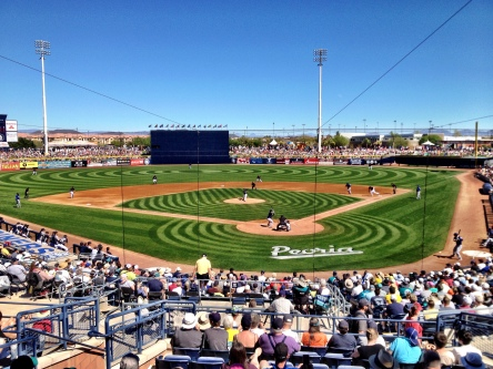 A near perfect day for Cactus League baseball!