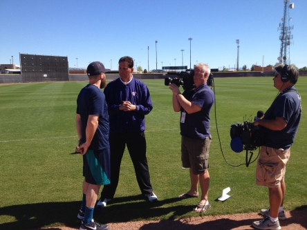Dustin Ackley talking with the MLB Network.