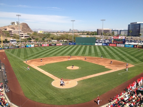 The Mariners beat the Angels 10-6 on a beautiful day at Tempe Diablo Stadium.