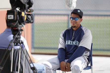 Felix Hernandez was one of many players interviewed by MLB International.
