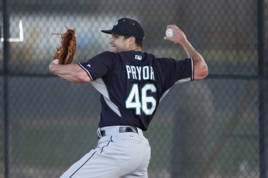 RHP Stephen Pryor threw a 30-pitch bullpen this morning.