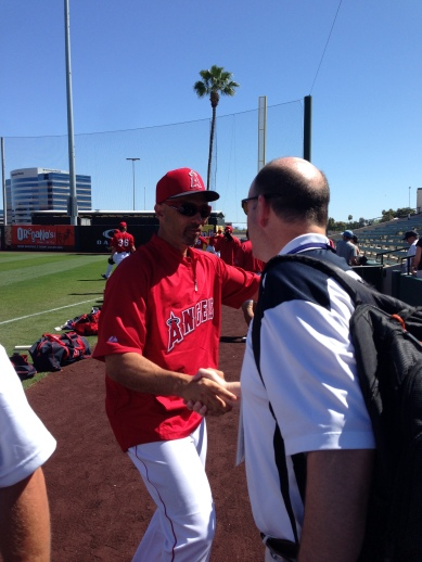 Raul Ibanez made sure to say hi to his old Mariners friends.