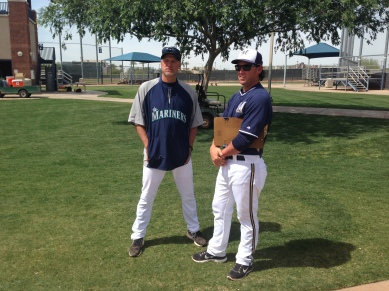 Former Mariners outfielder Jeremy Reed chats with Daren Brown.