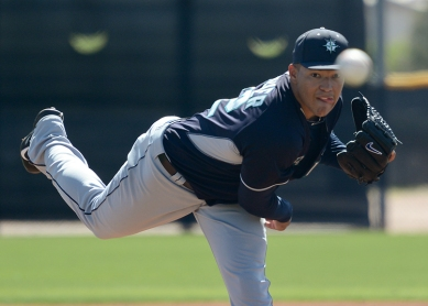 Taijuan Walker worked 1.0 inning in a Triple-A game this afternoon. (photo credit: Joseph Pun)