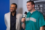 Robinson Cano filming for MTV2's Off the Bat.