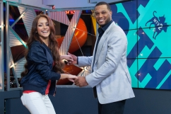 Robinson Cano showing off his dance moves on the set of MTV2's Off the Bat.