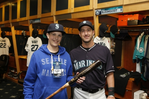 Trey Lauren enjoyed a special day at the ballpark with Willie Bloomquist.