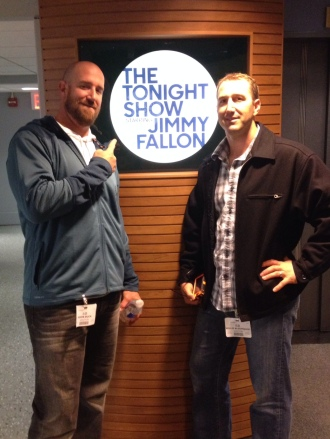 Teammates John Buck and Willie Bloomquist tagged along for the taping.
