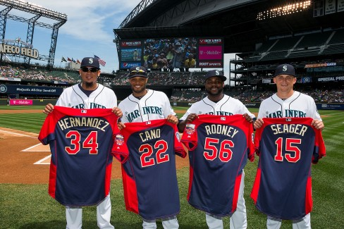 Felix Hernandez, Robinson Cano, Fernando Rodney and Kyle Seager will represent the Mariners in the All-Star Game.