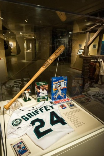 The Pitch Black exhibit includes more recent history including artifacts from Ken Griffey Jr.'s career.