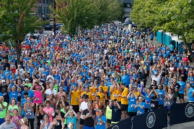 Over 1,300 runners and walkers turned out for the Third Annual Refuse to Abuse 5K at Safeco Field, which raised over $100,000 for domestic violence prevention programs.