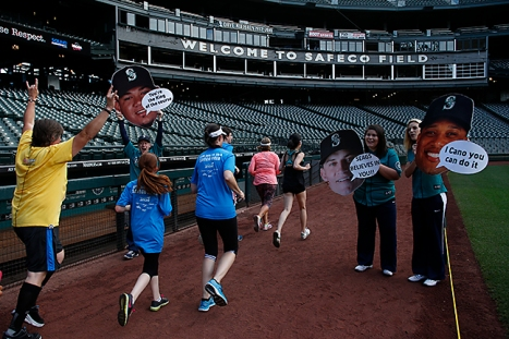 A lap around the warning track on the field finished the Third Annual Refuse to Abuse 5K, which raised over $100,000 for domestic violence prevention.