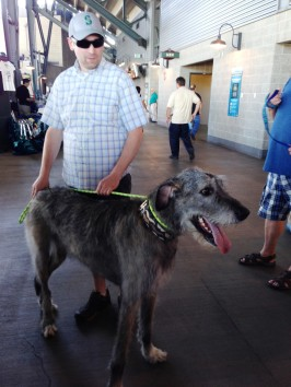 The graceful Irish Wolfhound Subie was the biggest dog at Bark At The Park.