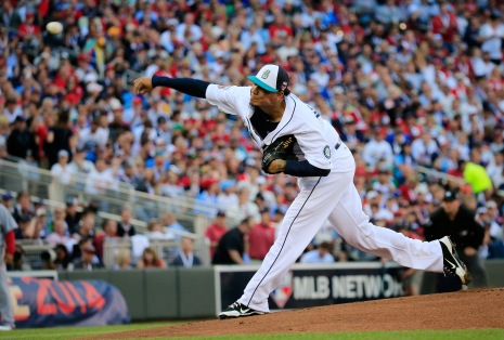Felix Hernandez was selected as the top pitcher by American League managers.