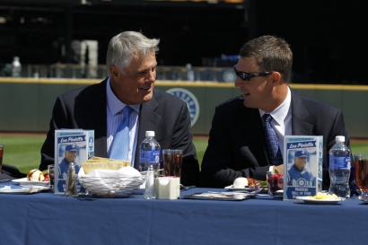 Mariners Hall of Famers Lou Piniella and Dan Wilson