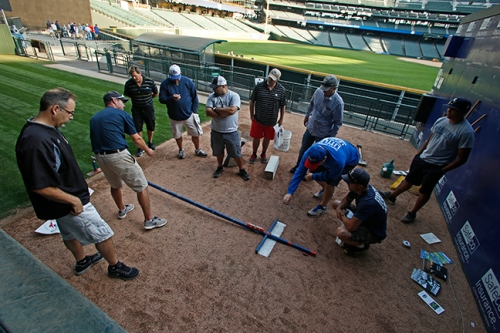 Assistant Groundskeeper Tim Wilson, who is the mound pro, offers tips on how to build and maintain a pitcher's mound.