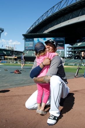 In 2013, Felix fulfilled little Sophia's wish. He has remained close to her and her family.