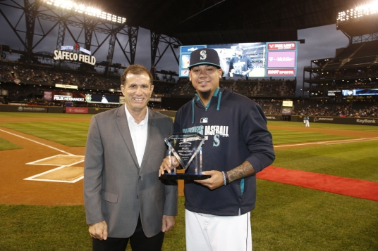 Felix Hernandez was named the Mariners Most Valuable Pitcher by the Seattle chapter of the BBWAA.