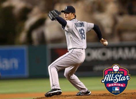 Hisashi Iwakuma has been added to the roster for the MLB Japan All-Star Series.