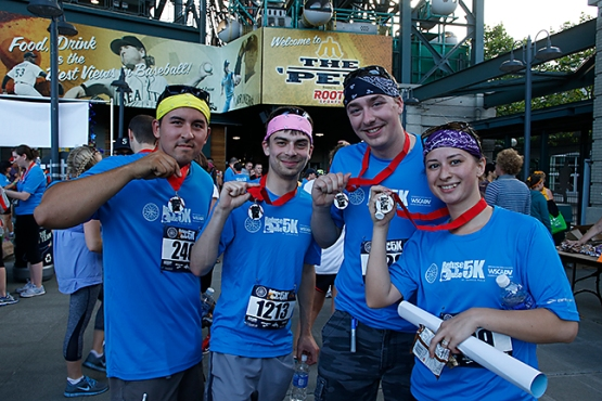 The Third Annual Refuse to Abuse 5K at Safeco Field raised $107,000 for the Washington State Coalition Against Domestic Violence.