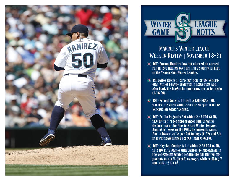 Mariners Winter League Weekly Review (11.25.14)