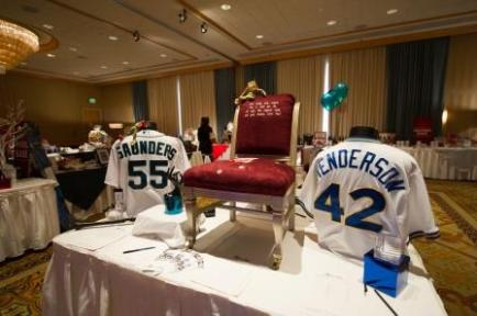 A variety of Mariners memorabilia was up for bid at the Toys For Kids auction.