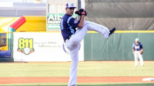 LHP David Rollins has averaged 8.6 K/9.0 IP during his minor league career (photo credit: MiLB.com)