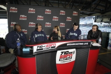 Lloyd McClendon with Rick Rizzs, Shannon Drayer, Aaron Goldsmith and Kevin Cremin on the Hot Stove League Show.