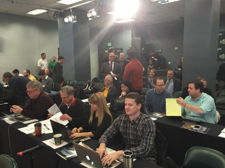 The Seattle media ready for the big event!