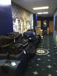 Lots of equipment ready to be packed.