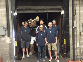 The Mariners home clubhouse staff is in charge of loading the truck for spring training. They do an amazing job.