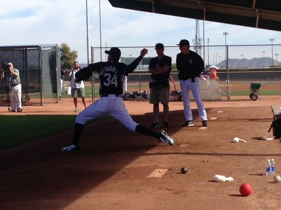 Felix Hernandez completed his first bullpen of the spring.
