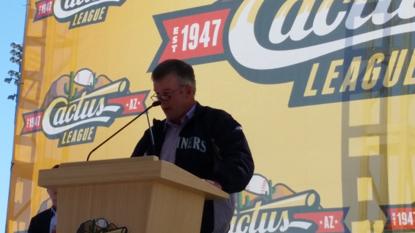 Mariners President Kevin Mather spoke at the Cactus League Lunch.