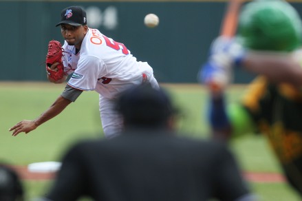 Rafael Perez pitched for the Dominican Republic in last week's Caribbean Series.