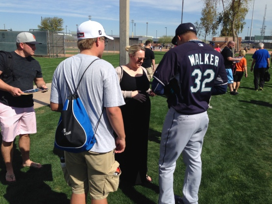 Taijuan Walker always takes time to meet with fans.