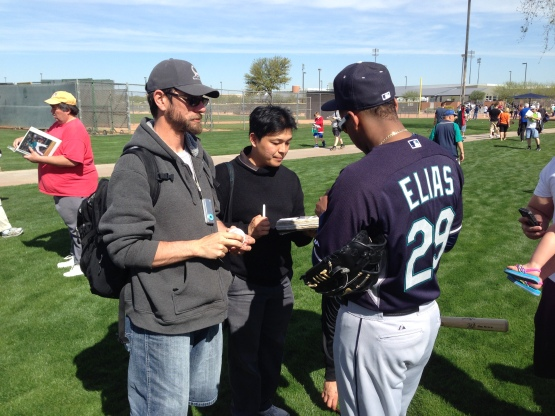 After a successful rookie campaign, Roenis Elias has become popular with the fans.