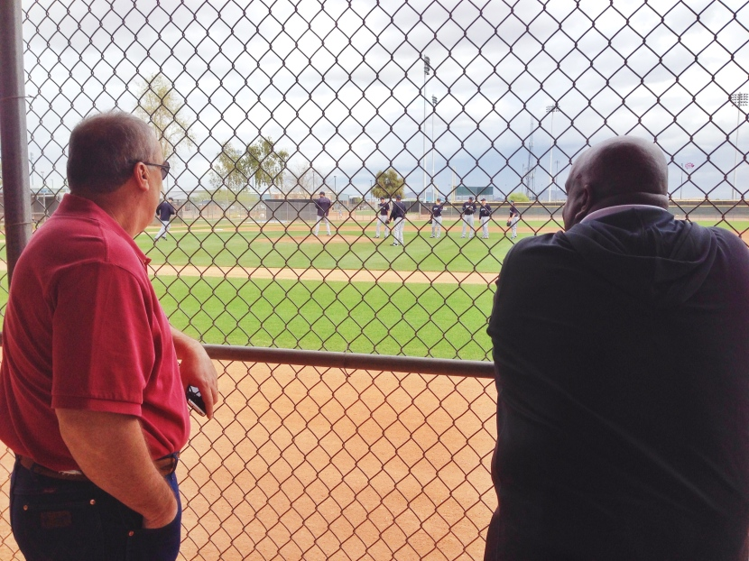 Roger Hansen (left) and Chris Gwynn (right) check out PFP.